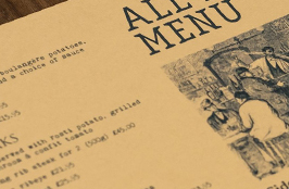Kraft Menu Printing: Traditional & Rustic
