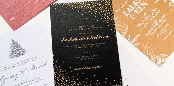 new years eve wedding invite