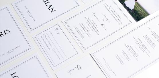 modern classic wedding invite