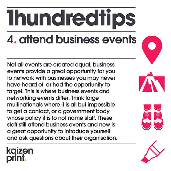 attend business events