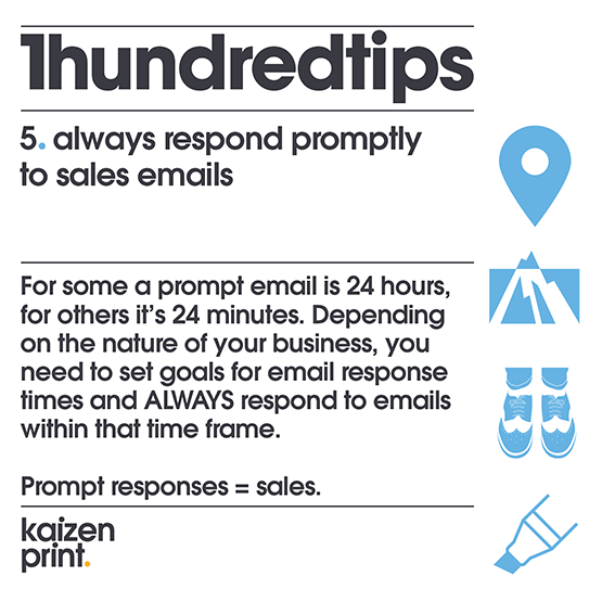 Prompt responses = sales.