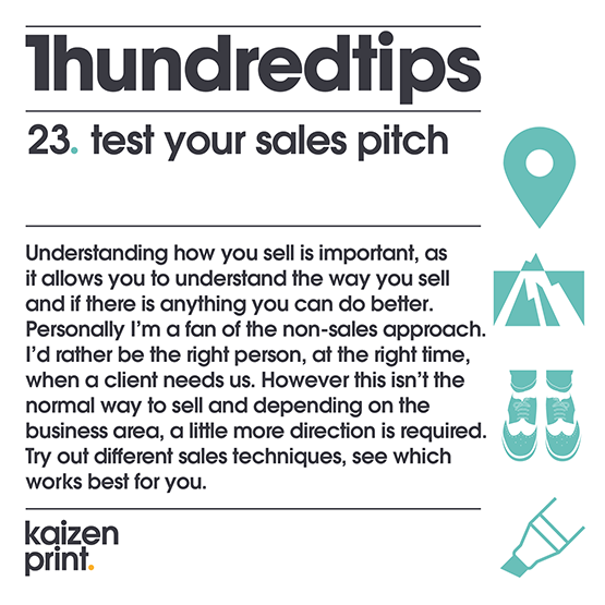 test your sales pitch