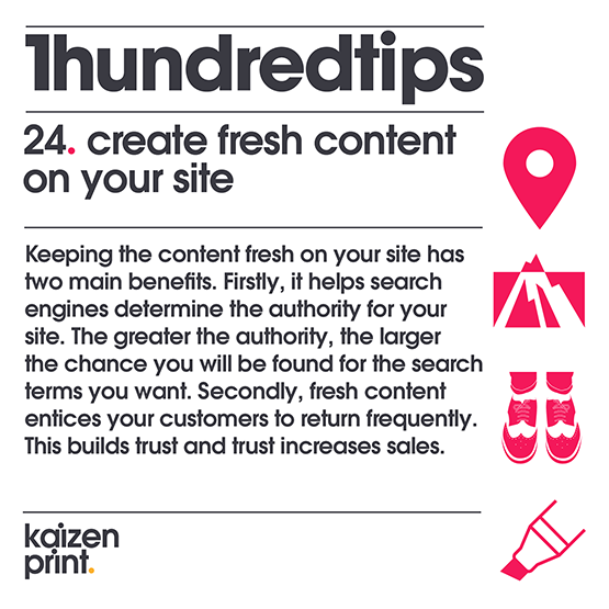 create fresh content on your site