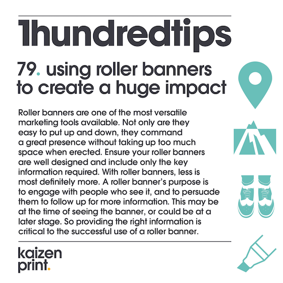 using roller banners to create a huge impact