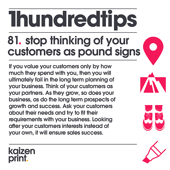 stop thinking of your customers as pound signs