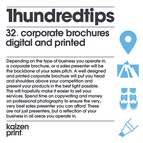 corporate brochures digital and printed