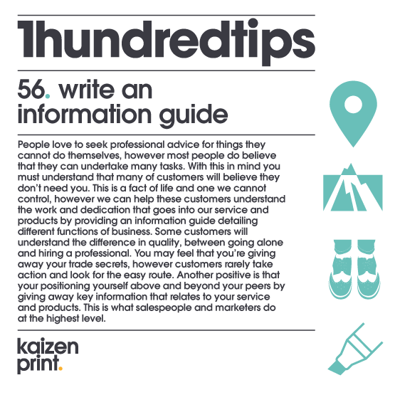 write an  information guide