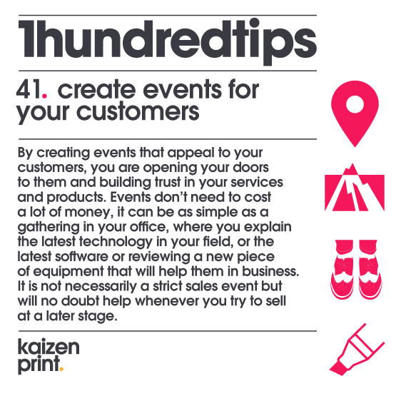create events for your customers