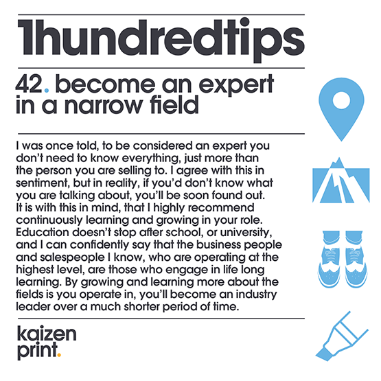 become an expert in a narrow field