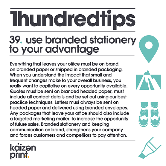 use branded stationery to your advantage
