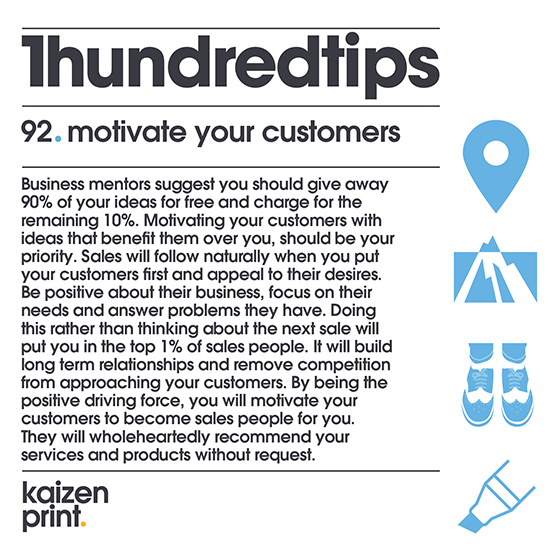 92  motivate your customers