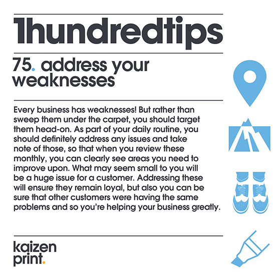 address your  weaknesses