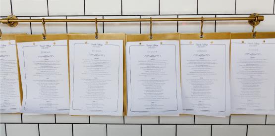 French village food menus