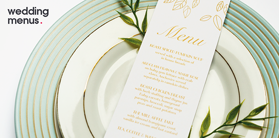 wedding menu print
