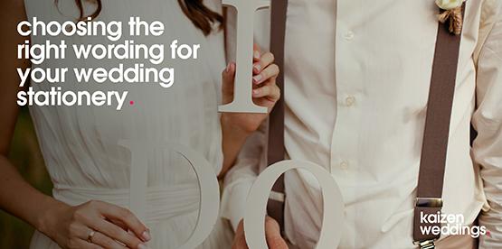 choosing your wedding wording
