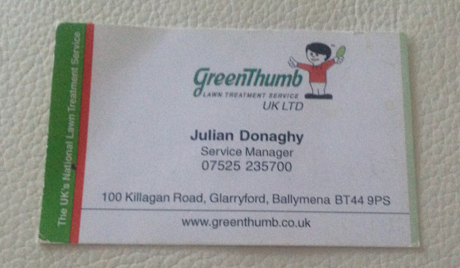 A case for laminating business cards kaizen print blog the sample of business card above is one i was given by a garden maintenance company they spray your lawn with grow hormone or something like that reheart Images