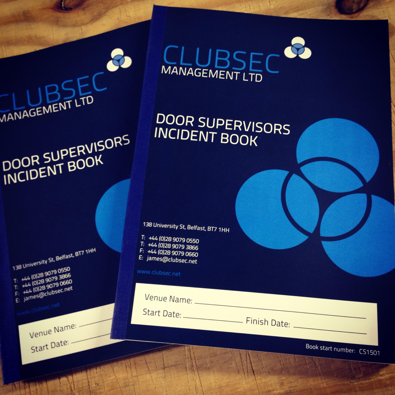 Door supervisor incident books kaizen print blog for Door supervisor
