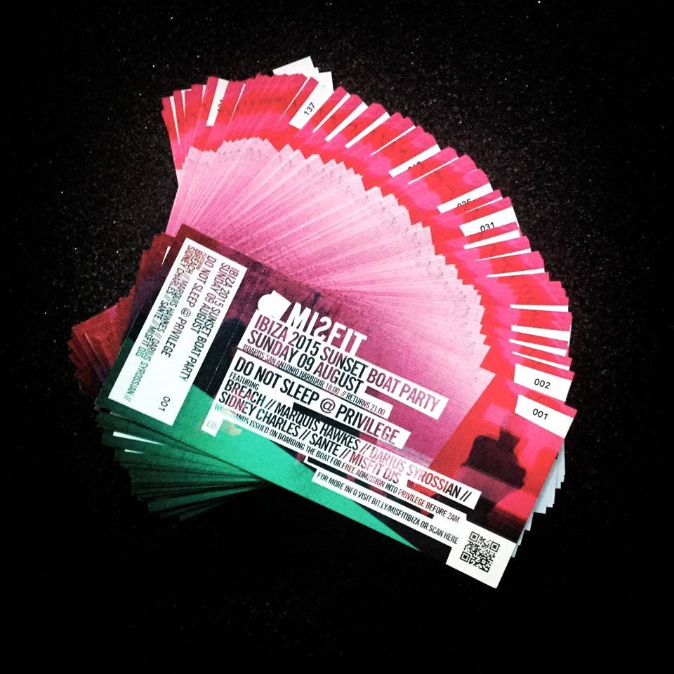 numbered tickets for ibiza boat party kaizen print blog