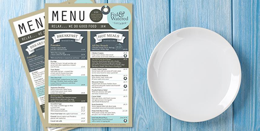 5 tips for designing your restaurant menu