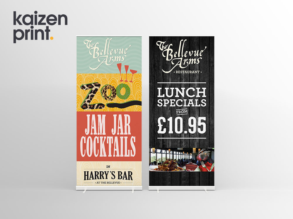 The Bellevue Arms - Roll Up Banner Printing - Belfast Printing - Kaizen Print