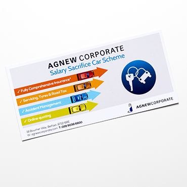 Agnew Corporate - A7 Flyer - Leaflet and Flyer Printing - Belfast Printing - Kaizen Print