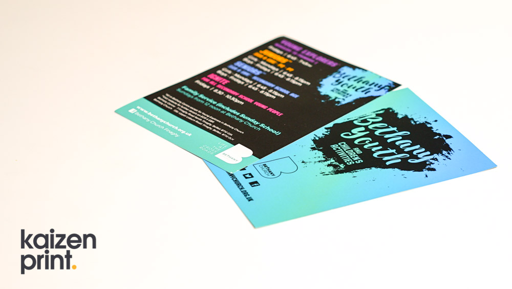 Flyer Printing & Design -Bethany Church - A7 Flyer Printing - Belfast Printing - Kaizen Print