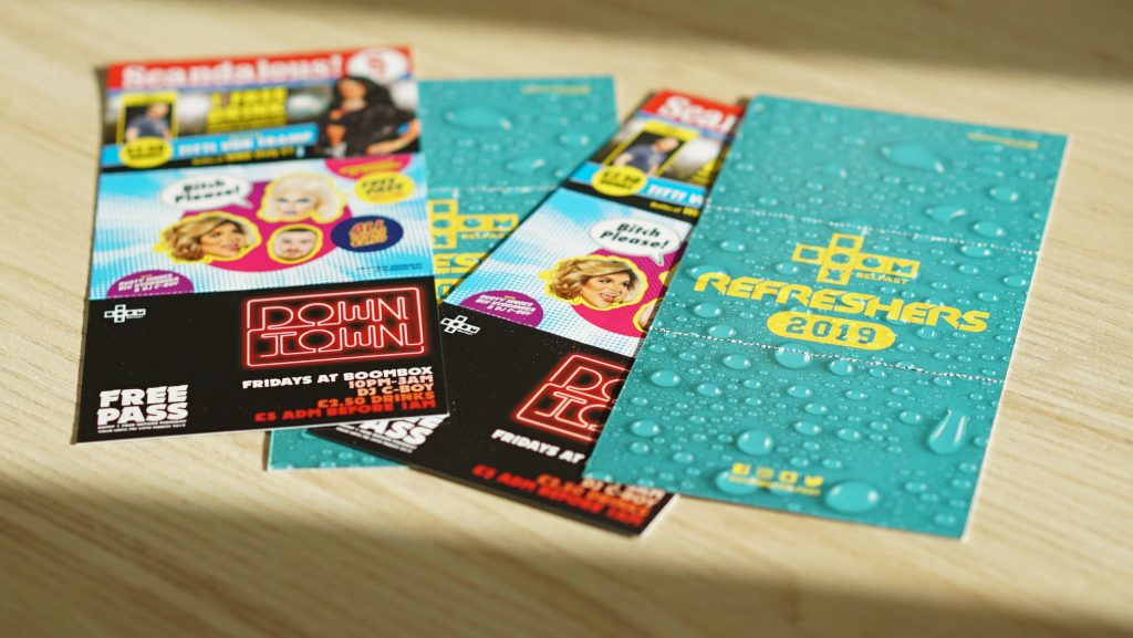 Bespoke Flyer Printing by Kaizen Print, Belfast, for BoomBox Refreshers Fayre