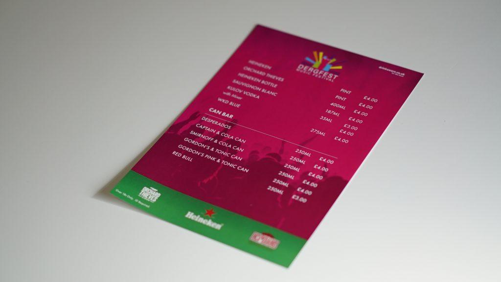 A5 Flyer Printing - Dergfest Flyer - Belfast Printing - Kaizen Print
