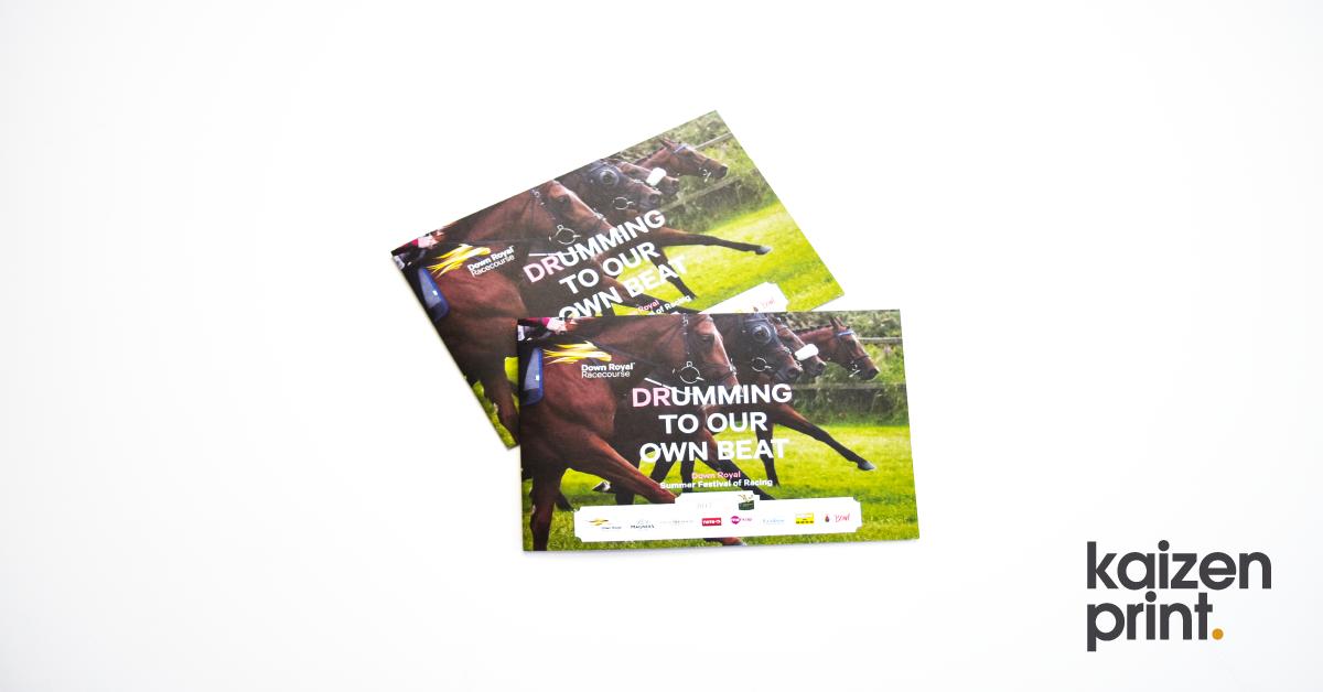 Flyer Printing - Down Royal Summer Festival - Belfast Printing - Kaizen Print