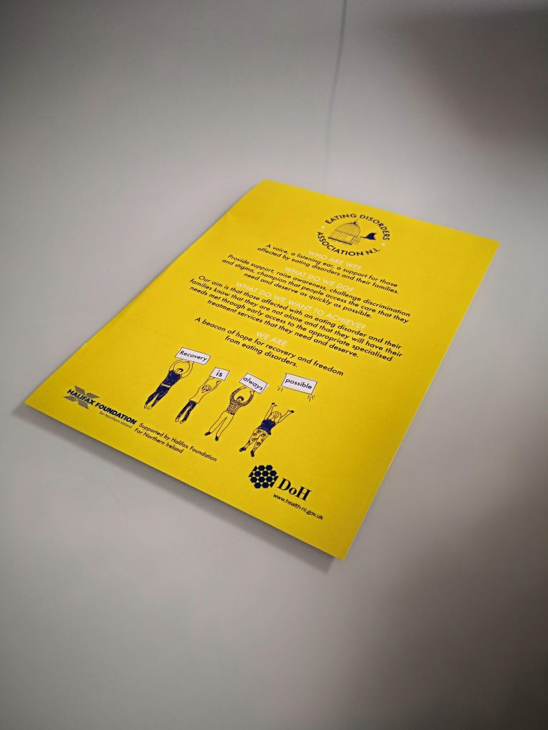 Flyer Printing - Eating Disorder NI - Belfast Printing - Kaizen Print
