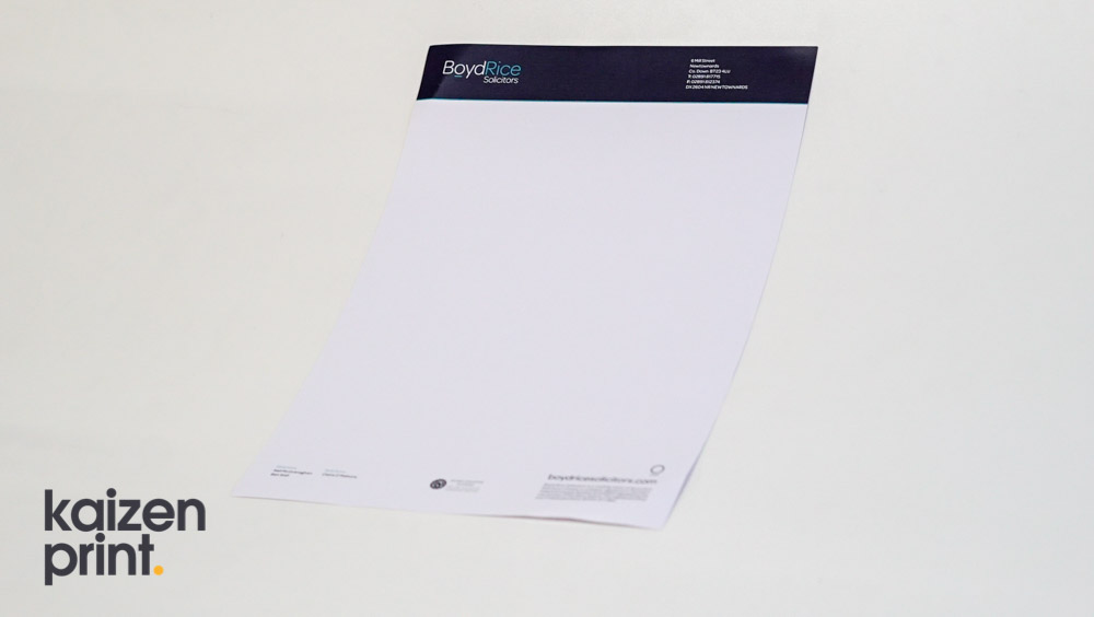 Letterhead Printing - Kaizen Print
