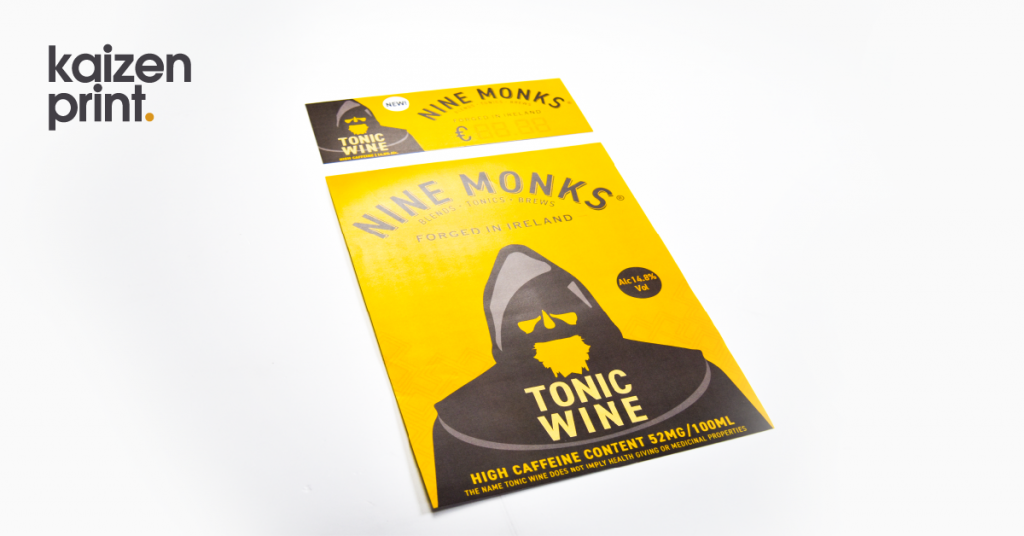 Nine Monks Flyer + POS label - Flyer Printing - Belfast Printing - Kaizen Print
