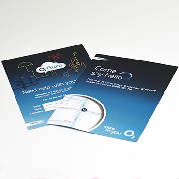O2 Leaflet - A5 Leaflet Printing - Leaflet and Flyer Printing - Belfast Printing - Kaizen Print