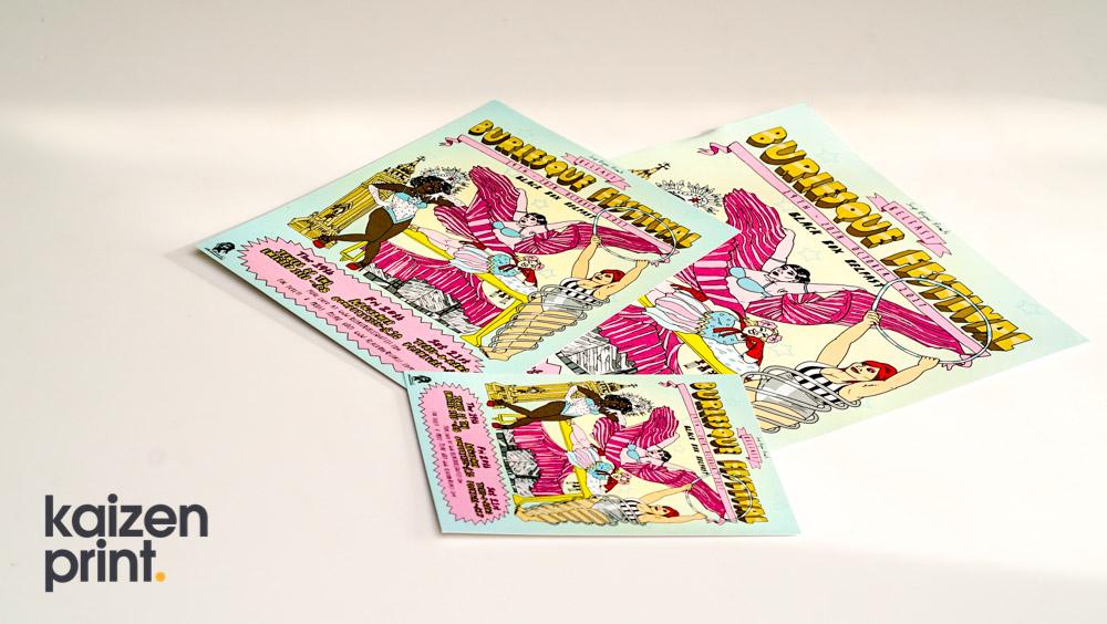 Flyer Printing & Design -Belfast Burlesque Festival - Flyer Printing - Belfast Printing - Kaizen Print