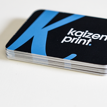Business card printing kaizen print inspire support round corner business card close up reheart Images