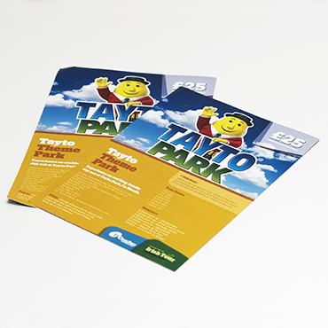 Tayto Park Flyer - A4 Flyer Printing - Leaflet and Flyer Printing - Belfast Printing - Kaizen Print