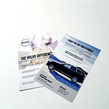 Volvo A5 Flyer - A5 Flyers - Leaflet and Flyer Printing - Belfast Printing - Kaizen Print