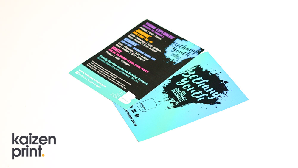 Flyer Printing & Design -Bethany Church - A4 Flyer Printing - Belfast Printing - Kaizen Print