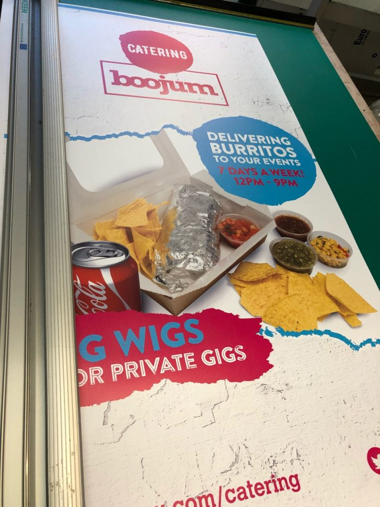 Boojum Catering - Roll Up Banner Printing - Belfast Printing - Kaizen Print