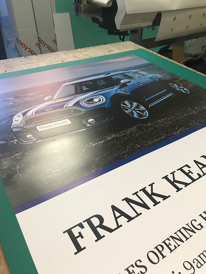 Car Dealership Roll Up Banner - Mini