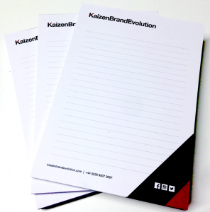 a5 notepad printing design agency