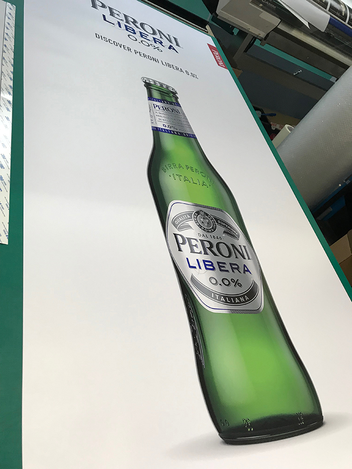 Peroni Roll Up Banner Design