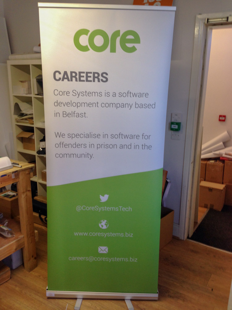 Core Careers Roll Up Banner - Roll Up Banner Printing - Belfast Printing - Kaizen Print