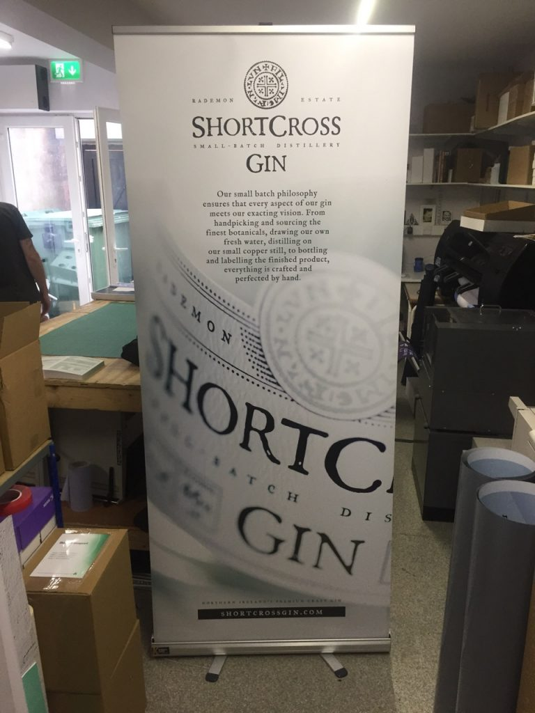 Shortcross Gin Roll Up Banner - Roll Up Banner Printing - Belfast Printing - Kaizen Print