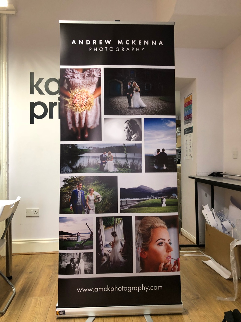 Andrew McKenna Roll Up Banner - Roll Up Banner Printing - Belfast Printing - Kaizen Print