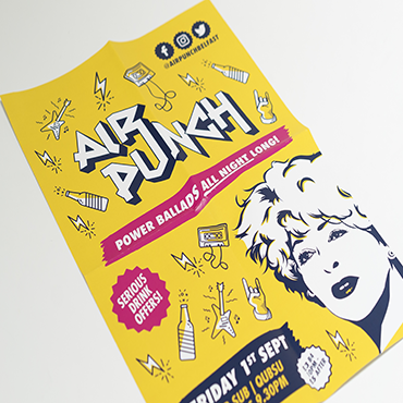 A3 Poster - Air Punch - Large Format Poster Printing - Belfast Printing - Kaizen Print