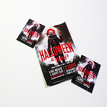 A3 Poster - Halloween at Filthy's - Large Format Poster Printing - Belfast Printing - Kaizen Print