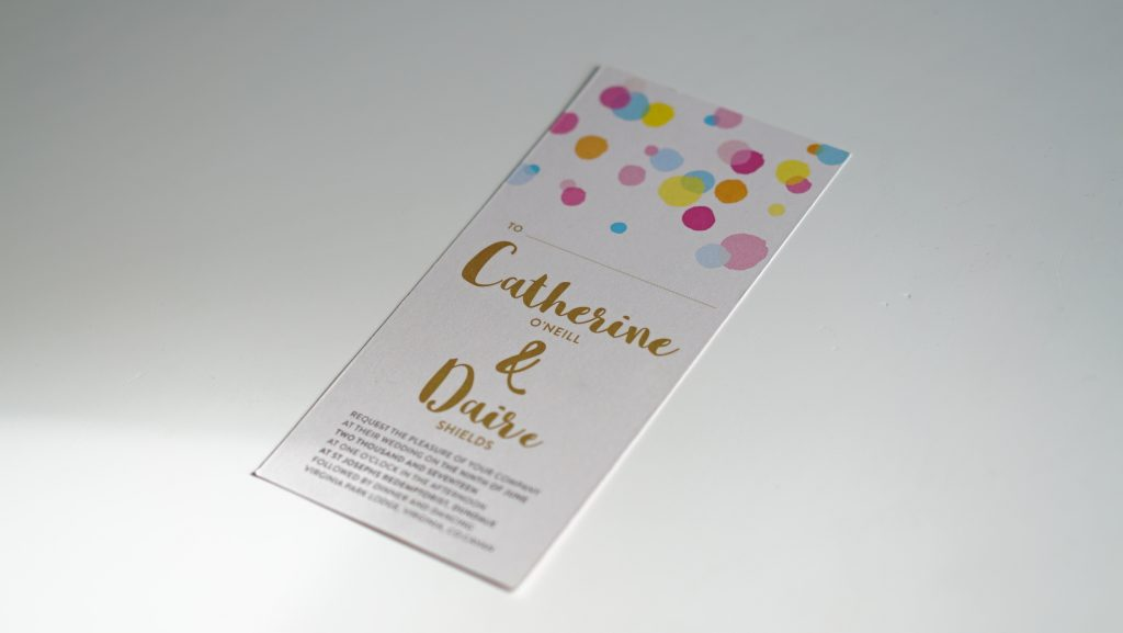Wedding Invites - Catherine and Daive - Wedding Stationery - Belfast Printing - Kaizen Weddings