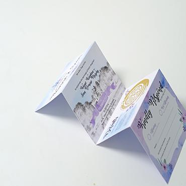 Winnie and Sean - Wedding Invites - Folded Wedding Invite - Belfast Printing - Kaizen Weddings