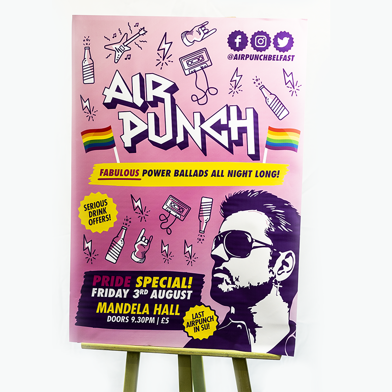 Large Format Printing - Large Posters - Air Punch - Belfast Printing - Kaizen Print